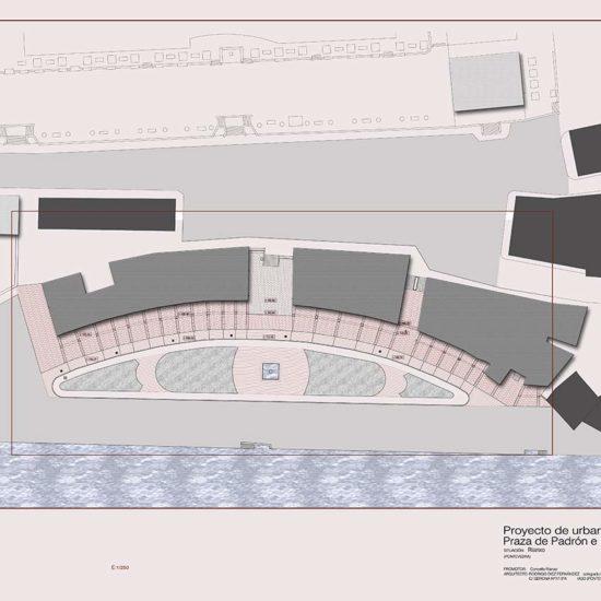 . Reforma de soportales y entorno de los jardines en el Paseo de Ribeira